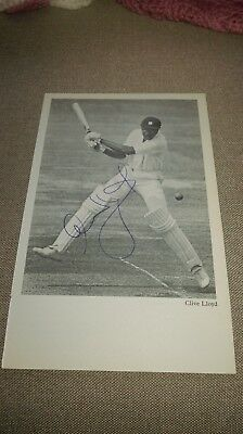 Clive Lloyd SIGNED photo (from book) - West Indies Cricket Great