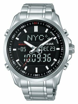 Pulsar Gents Chronograph World Time Watch - PZ4021X1 PNP