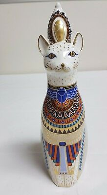 Royal Crown Derby Figure - Royal Cat - Egyptian - 1St Quality