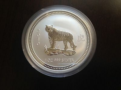 2007/2010 Australia Lunar Year of The TIGER 1 oz. Silver Coin
