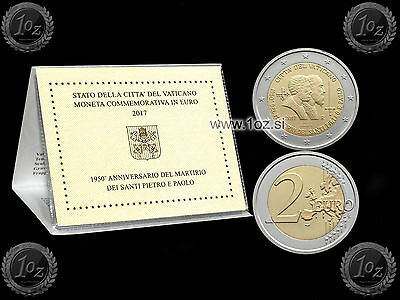 VATICAN 2 EURO 2017 (Saint Peter and Saint Paul) Commemorative coin / CoinCard
