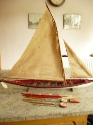 Model Victorian Wooden Whaling Chase Boat