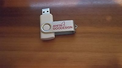 Official Anita Goodesign USB Drive with incredible 667 Collections in PES Format
