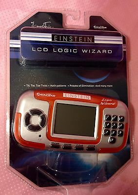 NEW Einstein LCD Logic Wizard Train Your Brain Tic Tac Toe Several Other Games
