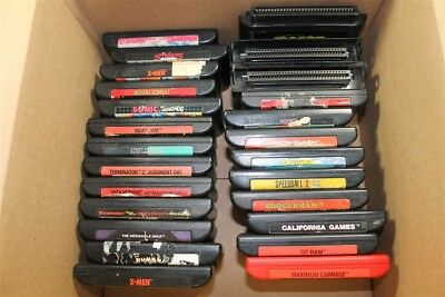 Sega Genesis Lot Of 25 Classic Games (Discounted)