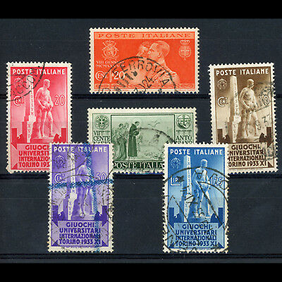 ITALY 1933 University Games SG 380-383 Used. + SG 267 & 305. Used. (BH215A)