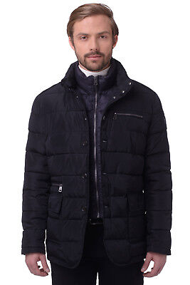 RRP €384 CERRUTI 18CRR81 Size 56/XXL Men's Quilted Jacket With Detachable Collar