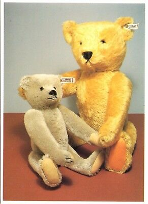 Teddy Bears - Two Limited Edition Steiff Bears from 1980 and 1985 - Postcard