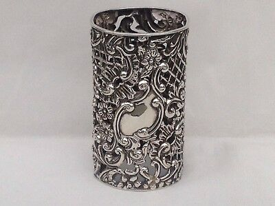 A Late Victorian Pierced Silver Bottle Holder, 1899