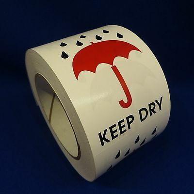 """Keep Dry 3""""x4"""" - Packing Shipping Handling Warning Label Stickers"""