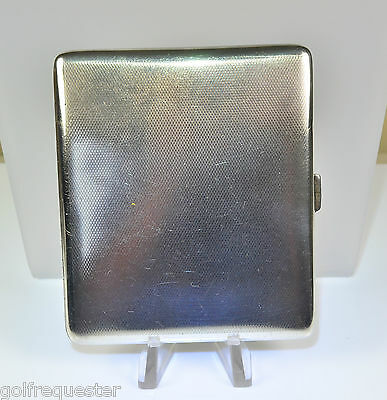 antique Silver Cigarette case London 1933 Goldsmith & Silversmiths Co Ltd  90mm