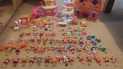 Huge Lalaloopsy Bundle mini dolls house and pets 50 dolls