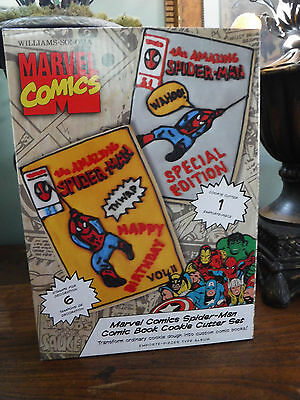 William-Sonoma Marvel Comics Cookie Cutters  New In Box