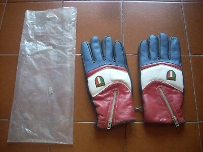 Rare Deadstock Padded Gloves Winter Ski Snow Italy Leather 70 Casual 80 Bnib Vtg