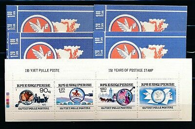 [H3422] Albania 1990 : 5x Good Very Fine MNH Complete Booklet