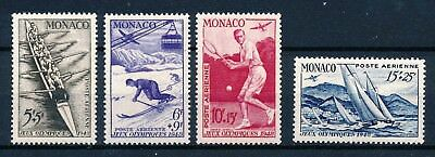 [H3445] Monaco 1948 : Good Set of Very Fine MH Airmail Stamps- $70