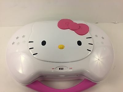 Hello Kitty CD Player and Karaoke System KT2003CA With Mics Excellent Condition