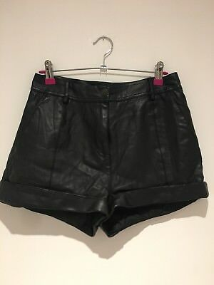 River Island Faux Leather High Waist Shorts
