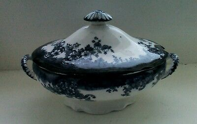 Blue and white porcelain tureen