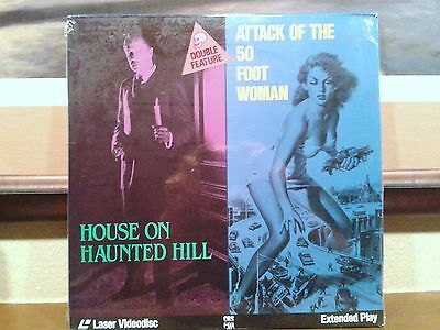 """Vintage laser disc """"House On Haunted Hill""""/""""Attack Of The 50 Foot Woman"""" Classic"""
