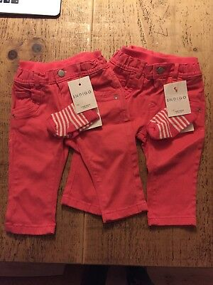 marks and spencer Girls Trousers 6-9 Months BNWT TWINS
