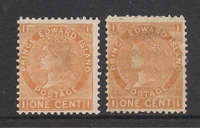 PRINCE EDWARD ISLAND  1872  1c orange & brown-orange  unused & MM