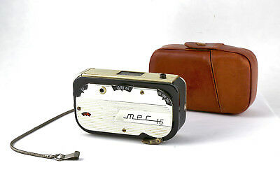 MEC 16 Subminiature / Spy Camera in Gold & Black with Leather Case & Chain