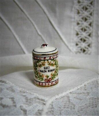 Dollhouse Apothecary Jar, Antique Look, Stunning Porcelain Piece, French Feve