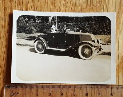 Small 1920s Photograph of a Vintage Open Top Car