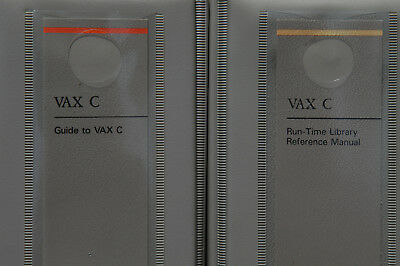 Digital Guide to VAX C and VAX C Run-time Library Reference Manuals in binders