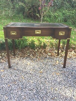 Campaign Style Leather Top Desk