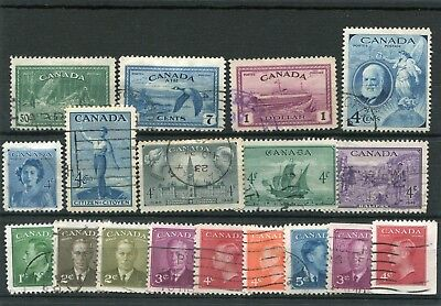 Canada. 18 -- G6/qe2 Used Stamps On Stockcard