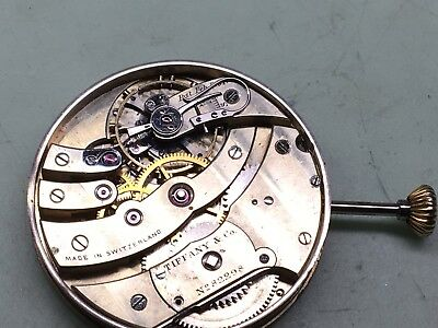 Tiffany pocket watch movement And Dial