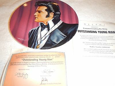 """Delphi Elvis Commemorating the King plate series  """"Outstanding Young Man"""" 7th"""