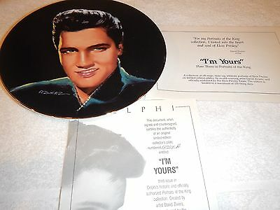 """Delphi Elvis Commemorating the King plate series  """"I'm Yours"""" 3rd edition"""