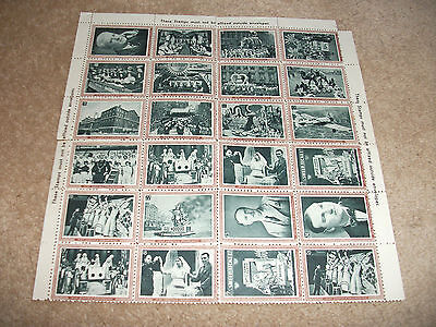 BLOCK OF 24 x COLLECTABLE STAMPS   HORSE RACING THEME  (NOT TO BE USED)