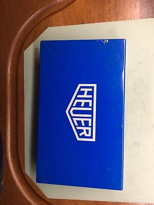 Vintage Heuer Blue Tin Box