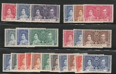 Coronation of King George VI and Queen Elizabeth Stamps 1937  Mixed Lot