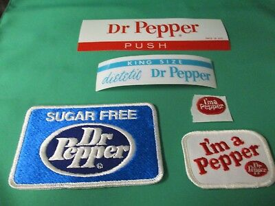 Dr Pepper Three Cloth Patches And To Machine Incerts
