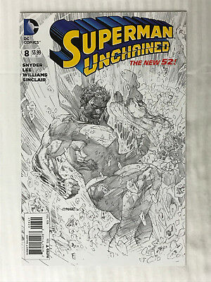 Superman Unchained #8 - 1:100 Variant! VF/NM - Jim Lee Cover!