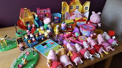 Large peppa pig bundle different items all used