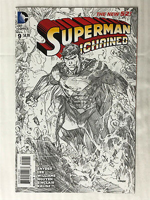 Superman Unchained #9 - 1:100 Variant! VF/NM - Jim Lee Cover!