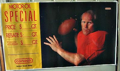 """Pittsburgh Steelers Terry Bradshaw"""" Nfl Football Poster Conoco Gas  Oil Sign Tin"""