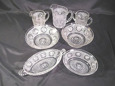Imperial Glass Star Medallion Pattern (Amelia) Lot of 7 pieces