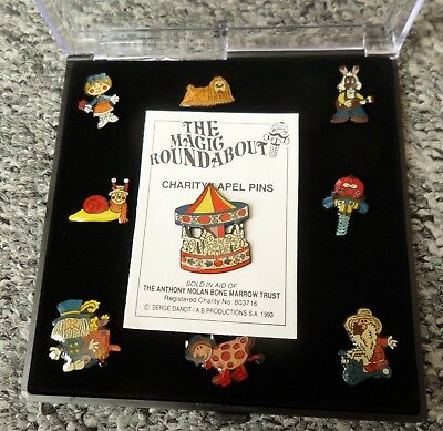 Magic Roundabout - Enamel Charity Lapel Pins / Badges (Complete Set of 9)