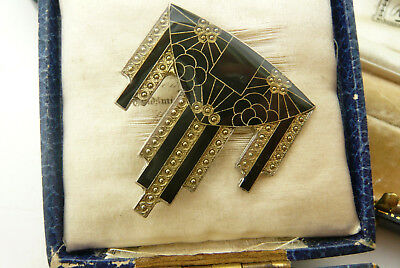 Vintage Jewellery Pierre Bex Art Deco Geometric Design Brooch/pin