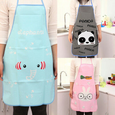 2 x Cute Animal Images Restaurant Household Kitchen Waterproof Cooking Apron New