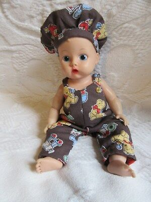 "2 Piece Overall Set For 8"" Vogue Jimmy Baby Doll"