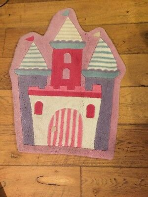 Princess Castle Girls Bedroom Rug