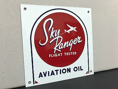 Sky ranger aviation oil  vintage style gas gasoline advertising sign